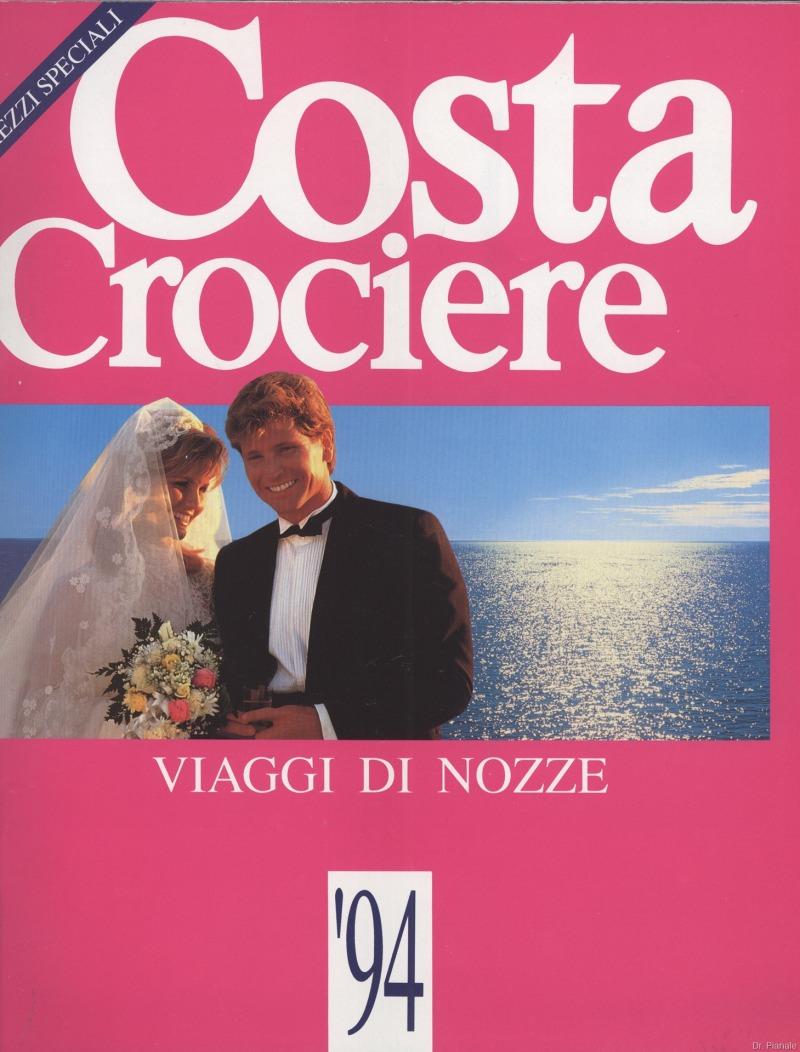 Costa Crociere – Catalogo Viaggi di Nozze 1994