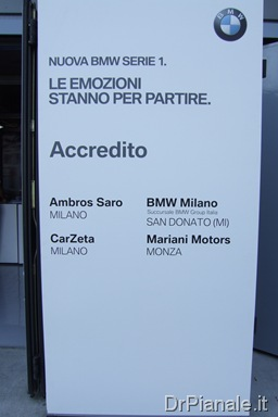 Presentazione BMW Serie 1 F20 . Accredito e briefing