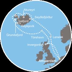 """Crociera 2015 – """"Leggende d'Islanda"""" con Costa Fortuna – Itinerario"""